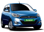 Europcar rental car Hyundai i10